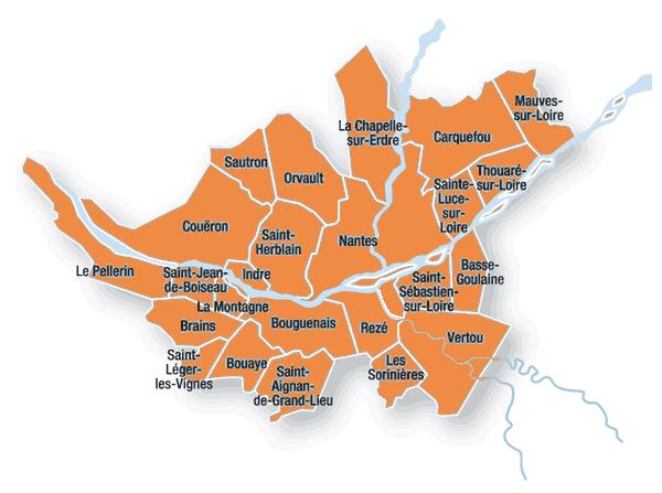 nantes métropole carte